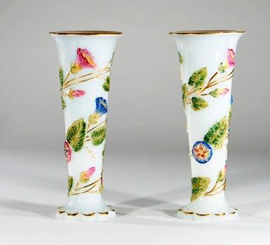 Antique Baccarat Painted Vase C4foryoucenter
