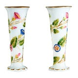 Pair of Baccarat 19th c. Opaline Vases