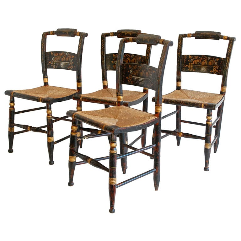 This SET OF FOUR HITCHCOCK CHAIRS is no longer available.