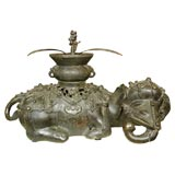 Bronze Incense Burner in the form of an Elephant in Repose