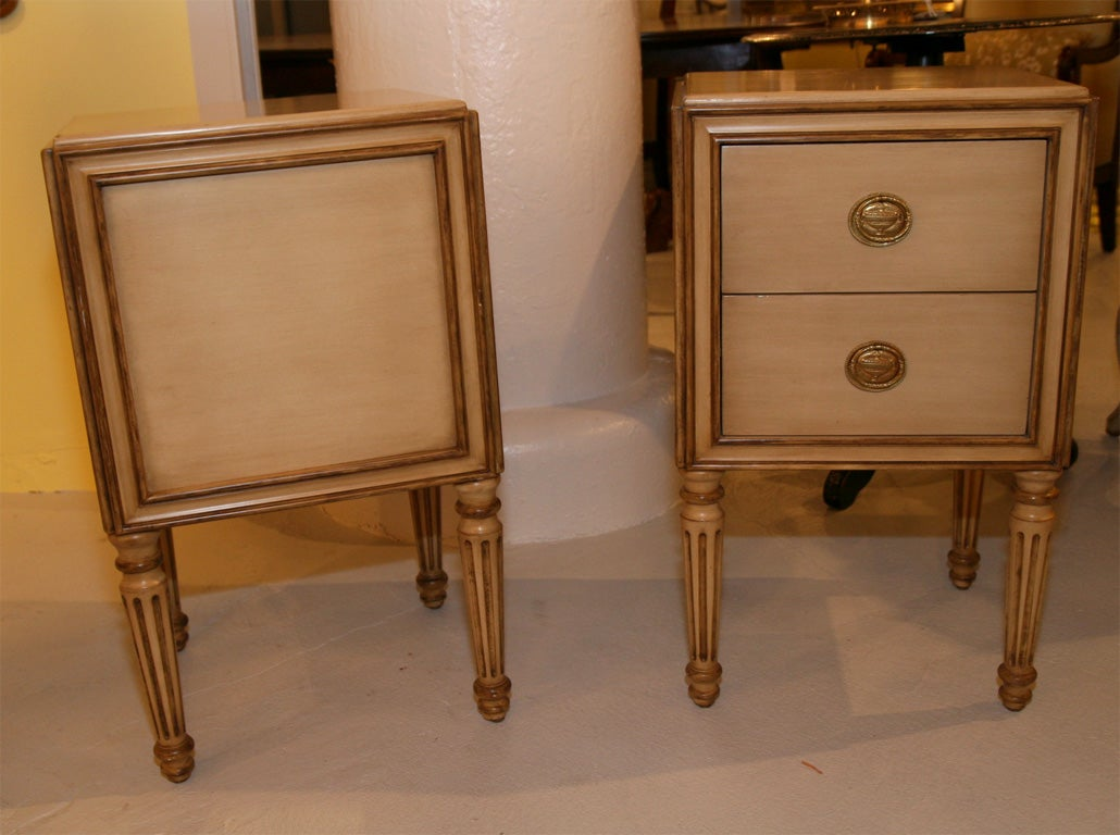 Pair Of Louis Xvi Style Sidecabinets By Michael Taylor Furniture At 1stdibs