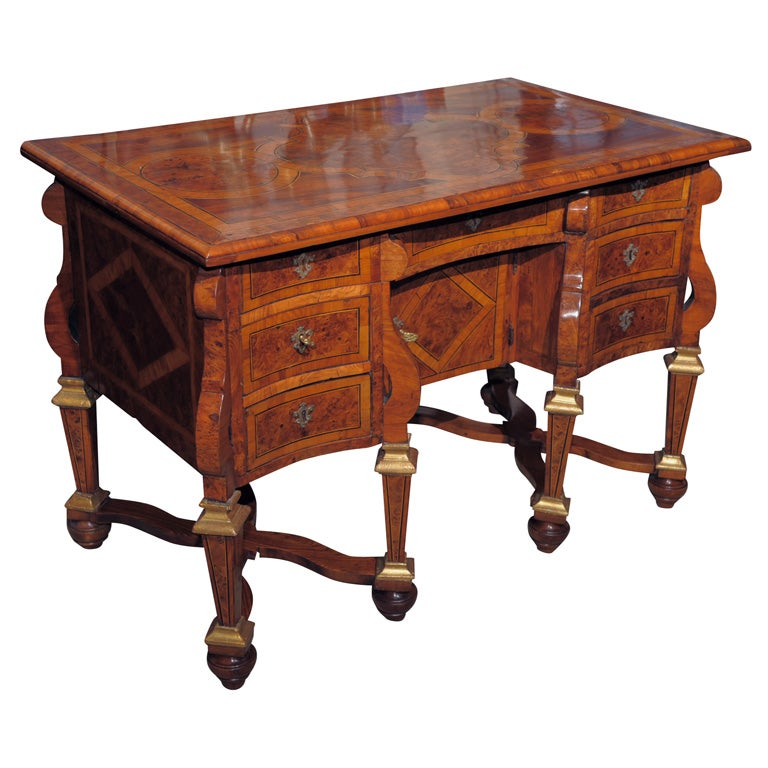 an elaborately inlaid italian bureau mazarin at 1stdibs. Black Bedroom Furniture Sets. Home Design Ideas