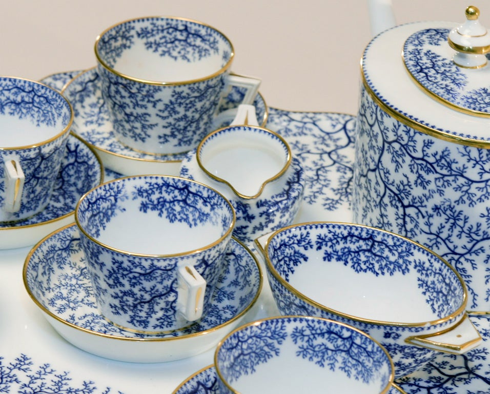 19th Century Minton Porcelain Tea Set 3
