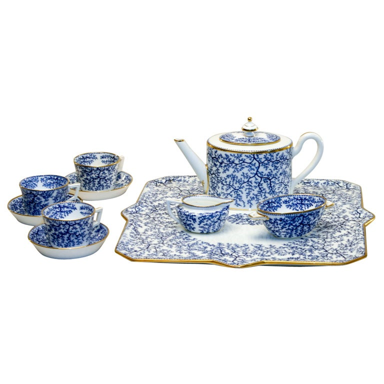 19th Century Minton Porcelain Tea Set 1