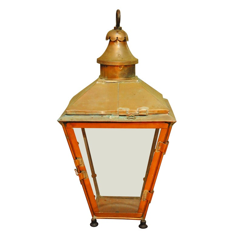 Antique Copper Gas Street Lantern At 1stdibs