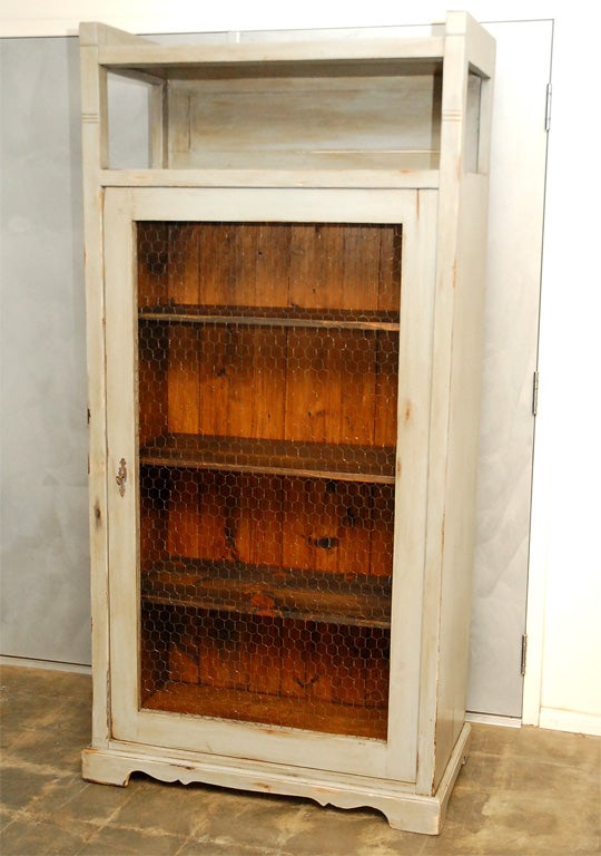 tall cabinet with wire mesh in door at 1stdibs wire mesh file cabinet cabinet wire mesh grille
