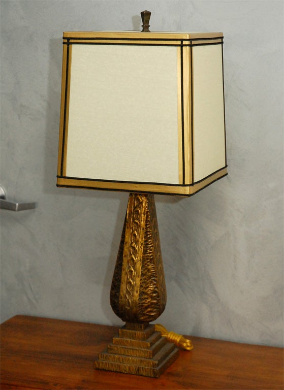 English Arts and Crafts Table Lamp For Sale