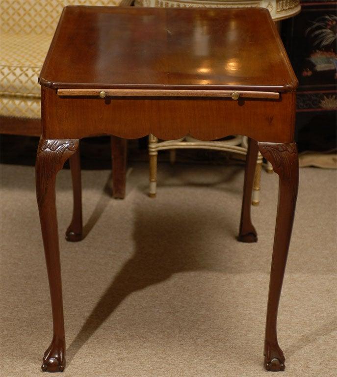 George III Tea Table in Mahogany, England, c. 1780 For Sale 1