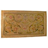 18th C. Italian Embroidered Textile in Painted and Gilt Frame