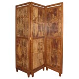 Three-Panel Bamboo Screen Room Divider