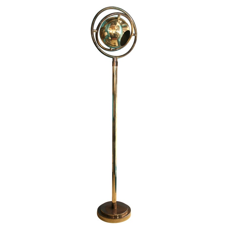 Bronze floor lamp by charles martin french 1930s at 1stdibs for 1930s floor lamp