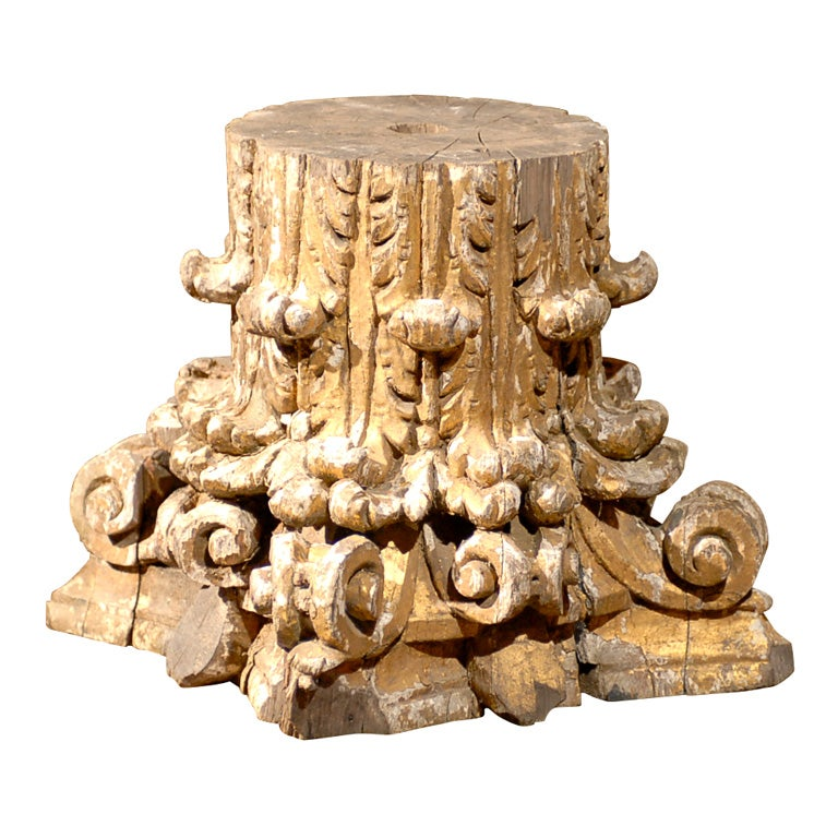 Capital And Base For Furniture Wood