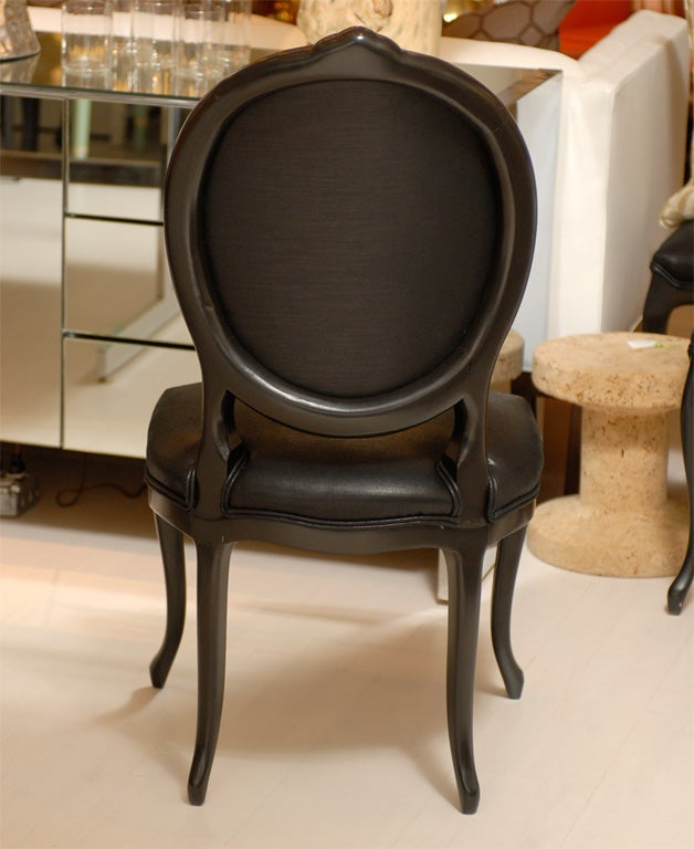 Round Back Dining Room Chairs: Black Round Back Dining Chair At 1stdibs