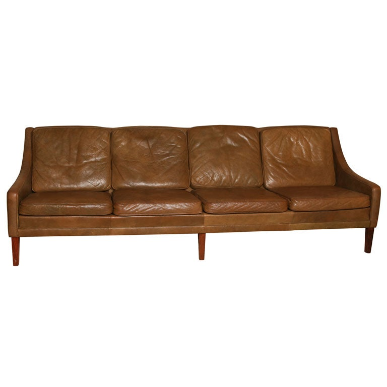 Brown Leather 4 Seater Sofa At 1stdibs