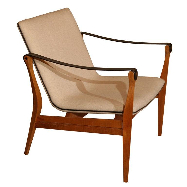 Single Danish Modern Safari Chair by Ebbe and Karen