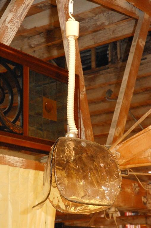 1960s handblown glass chandelier by J.T Kalmar.
