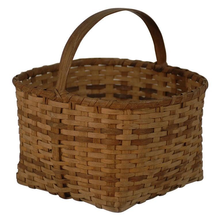 Handmade Baskets North Carolina : Cherokee native american indian basket north carolina at