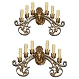 Pair of Baroque Six-Light Sconces