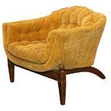Hollywood Regency single Klismos style slipper chair