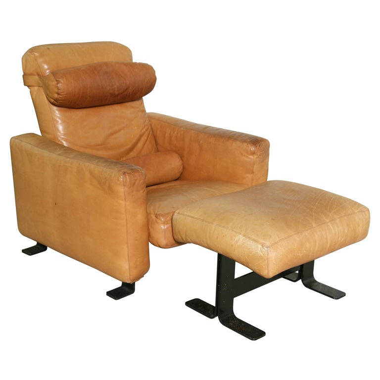 Atelier International Leather Chair And Ottoman At 1stdibs