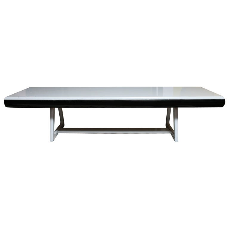 Black And White Minimalist Bench At 1stdibs