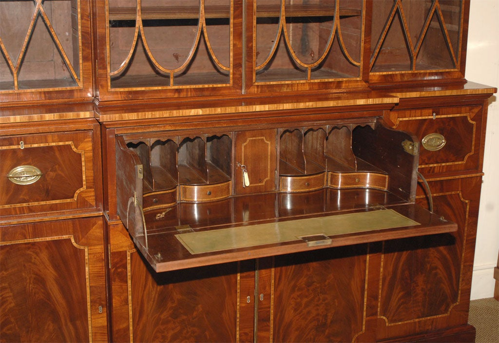 Breakfront Secretary Bookcase For Sale 2