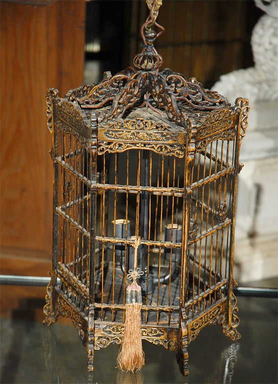 Chinese Bird Cage Lantern At 1stdibs