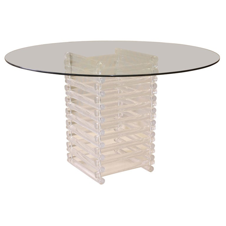 LUCITE DINING TABLE WITH GLASS TOP at 1stdibs : xDSC0674 from www.1stdibs.com size 768 x 768 jpeg 30kB