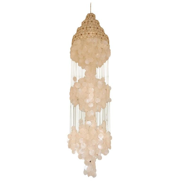 capiz shell chandelier at 1stdibs. Black Bedroom Furniture Sets. Home Design Ideas