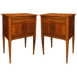 Pair of Directoire Walnut Side Tables, ca 1805