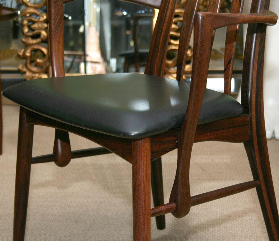 Rosewood Dining Room Set: Set Of 6 Rosewood Dining Room Chairs At 1stdibs