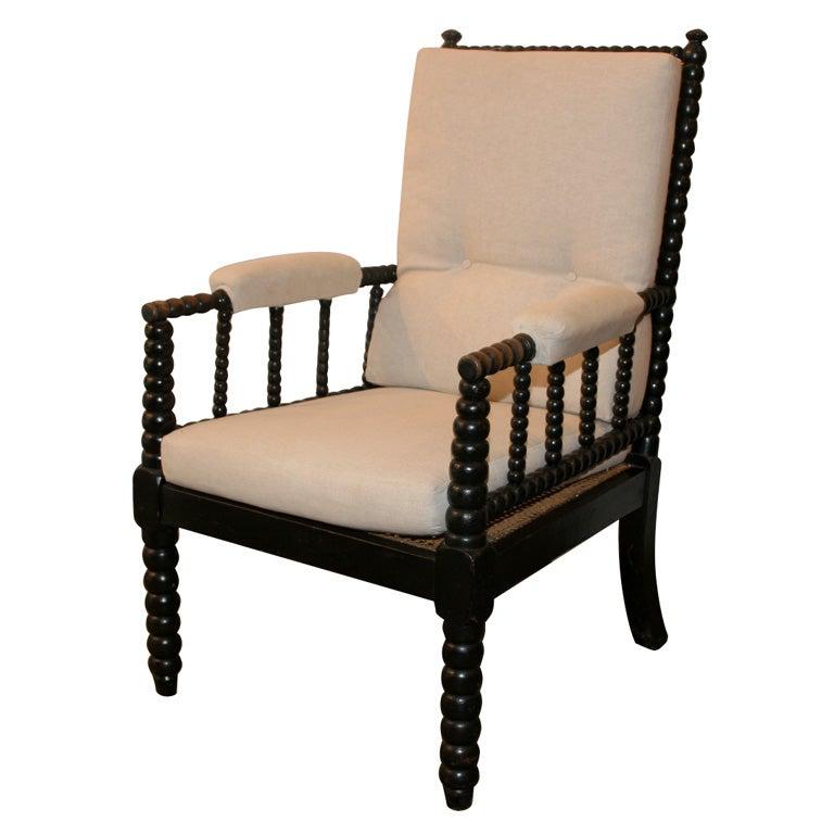 19th c ebonized bobbin chair at 1stdibs