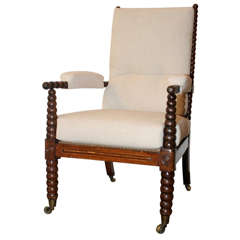 faux wood grained open arm bobbin chair at 1stdibs