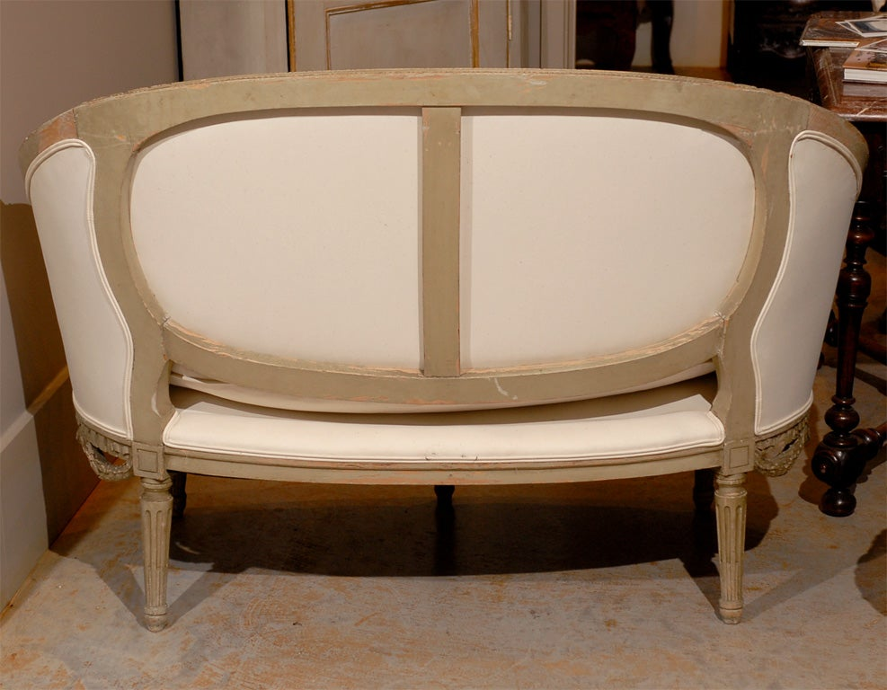 Petite french 19th century canape sofa louis xvi at 1stdibs for French canape sofa