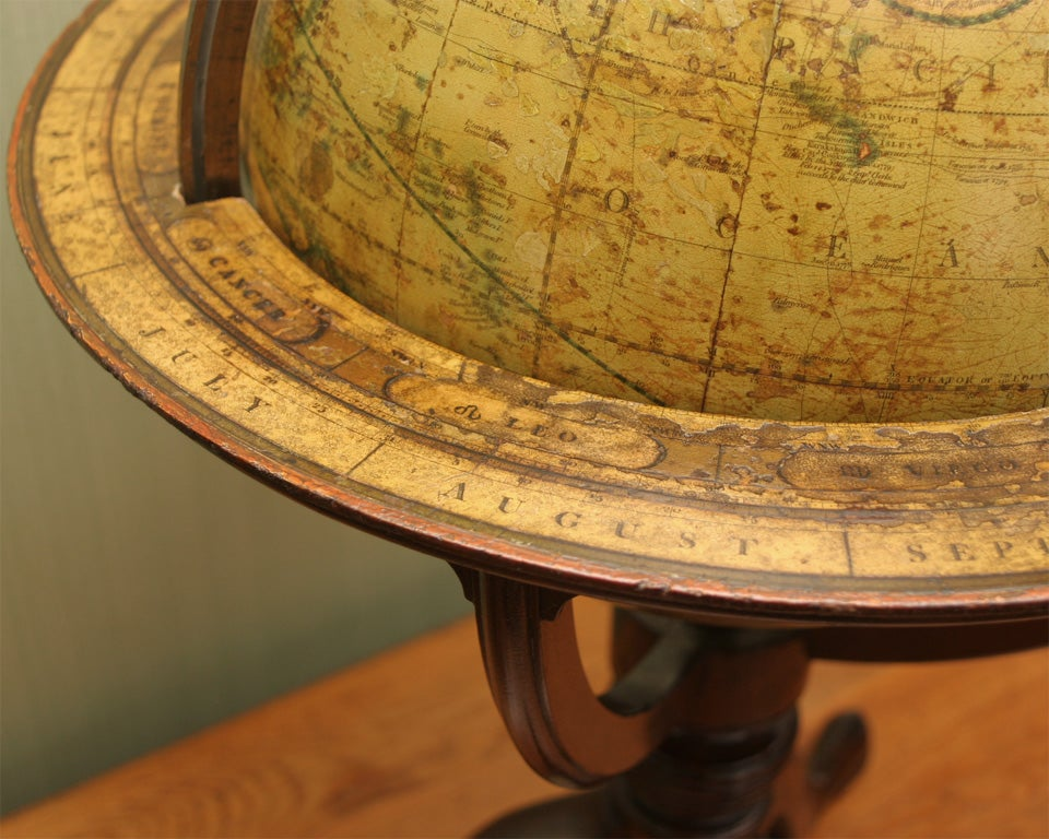 Antique Pair of Cary's Table Globes, circa 1800 and 1816 In Excellent Condition For Sale In New York, NY
