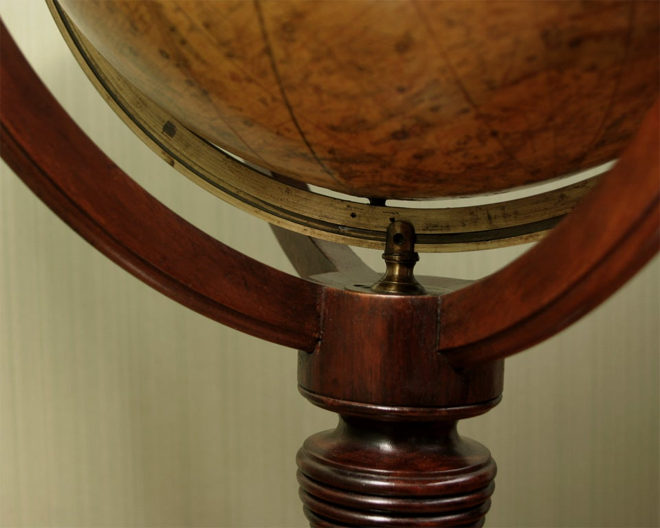 19th Century Antique Pair of Cary's Table Globes, circa 1800 and 1816 For Sale