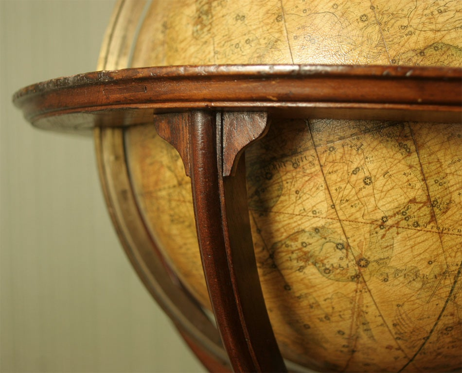 Antique Pair of Cary's Table Globes, circa 1800 and 1816 For Sale 2