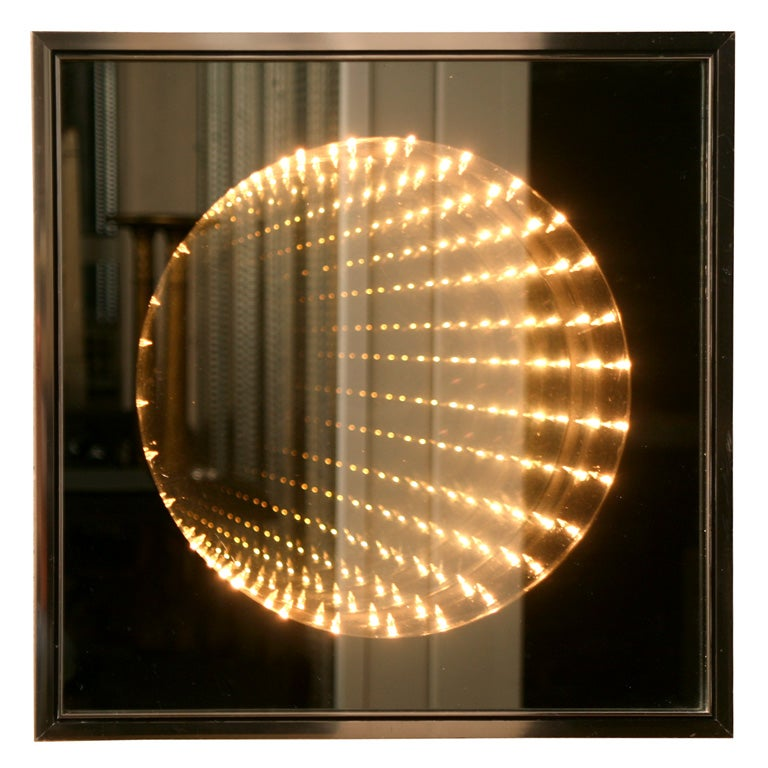 Infinity light box wall art at 1stdibs - Wall decoration lights ...