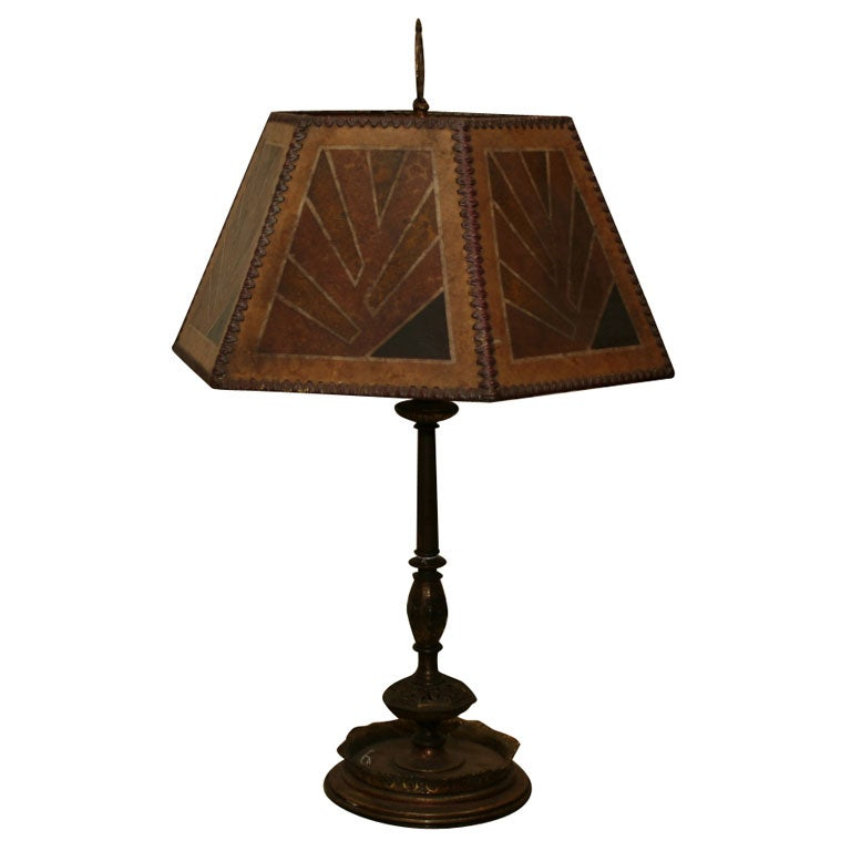 This american art nouveau table lamp is no longer available - An American Bronze Plated Metal Table Lamp At 1stdibs