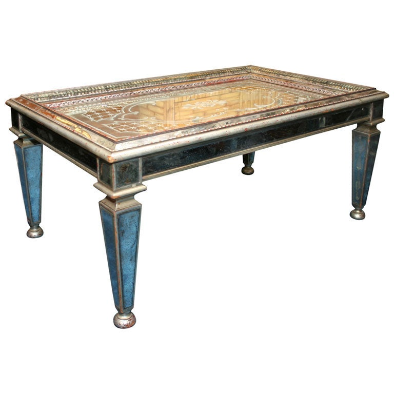 Verre Eglomise Tray Top Coffee Table At 1stdibs
