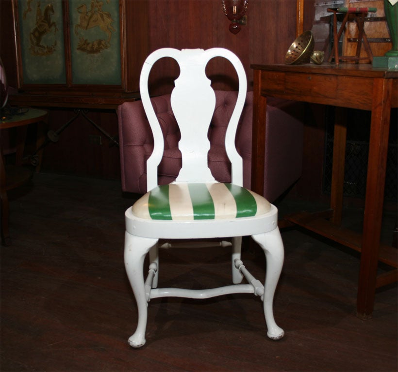 Set of Four Dorothy Draper Side Chairs For Sale 1
