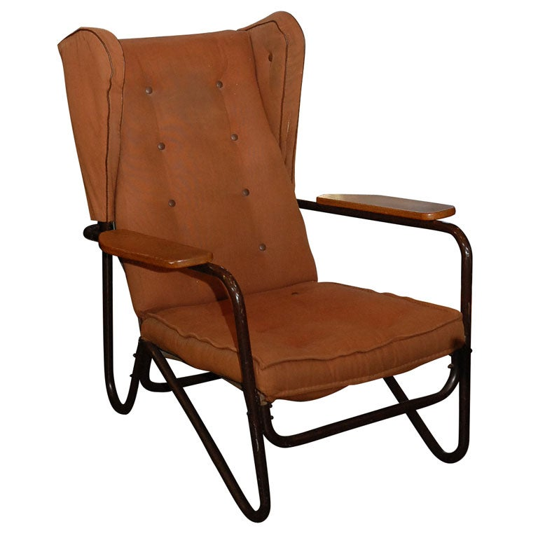 pierre guariche lounge chair at 1stdibs. Black Bedroom Furniture Sets. Home Design Ideas
