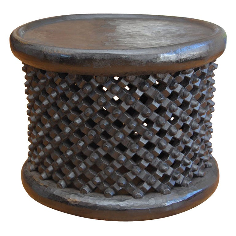 African Stool End Table At 1stdibs