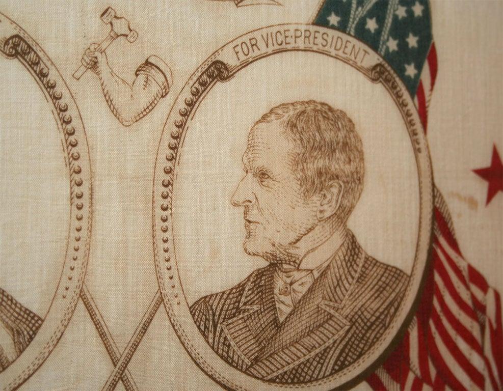 Campaign Bandanna:  Harrison/Morton1888 For Sale 1