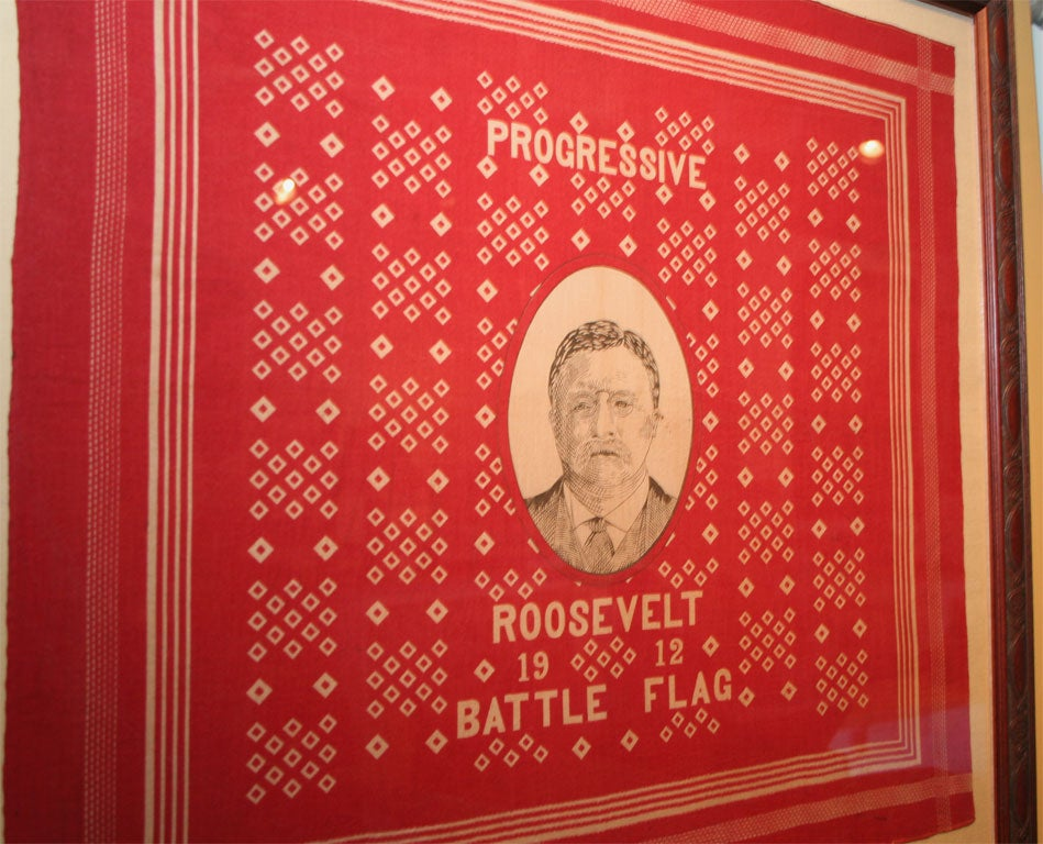 American Campaign Bandanna:  Roosevelt 1912 For Sale