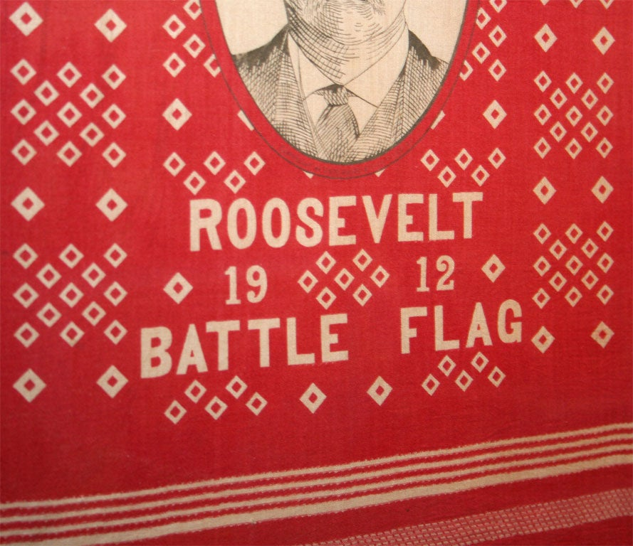 20th Century Campaign Bandanna:  Roosevelt 1912 For Sale