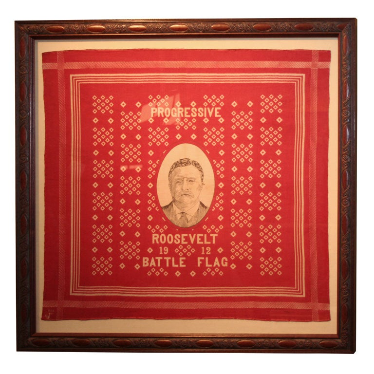Campaign Bandanna:  Roosevelt 1912 For Sale