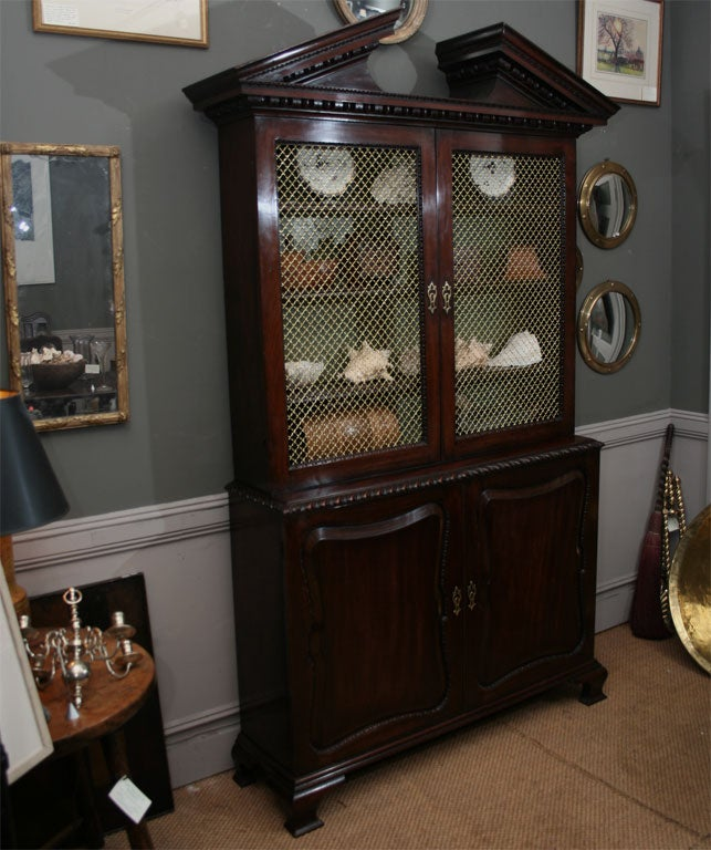 George II Mahogany Bookcase or Cabinet 2