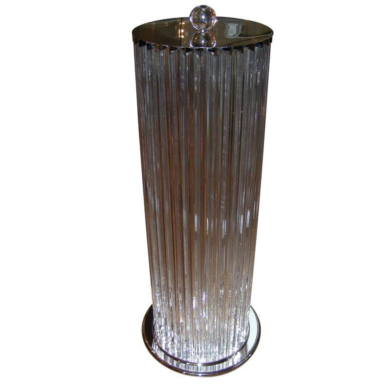 1980s Italian Glass Floor Lamp At 1stdibs