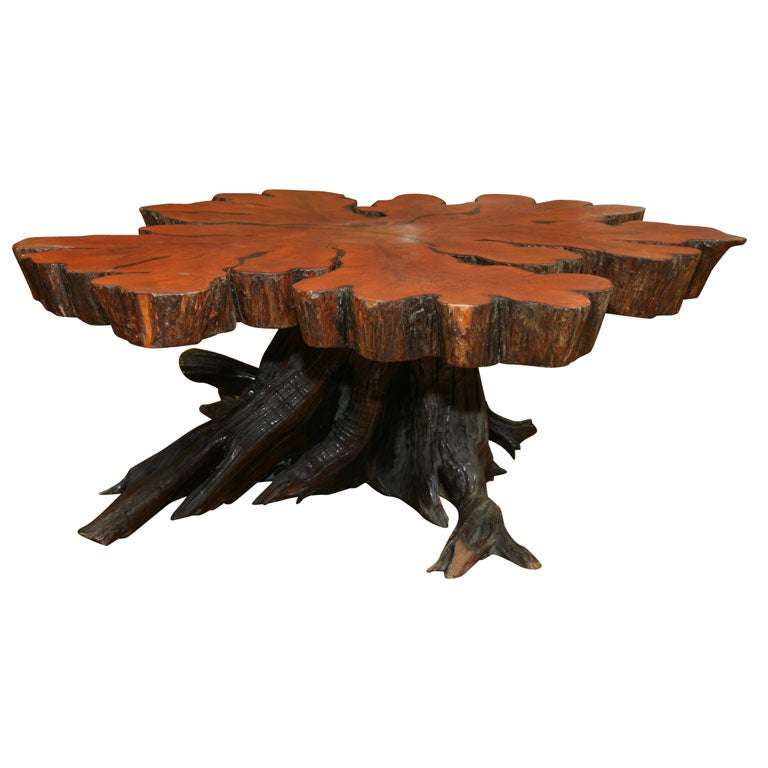 cross sectioned tree trunk coffee table at 1stdibs